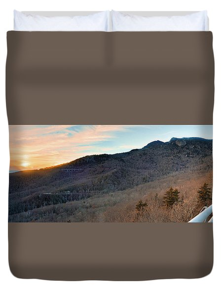 Duvet Cover featuring the photograph Grandfather Mountain by Ray Devlin