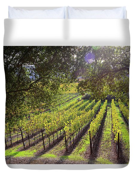 Grapevines In The Fall Duvet Cover