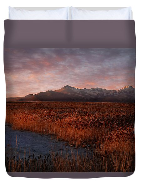 Great Salt Lake Duvet Cover by Utah Images