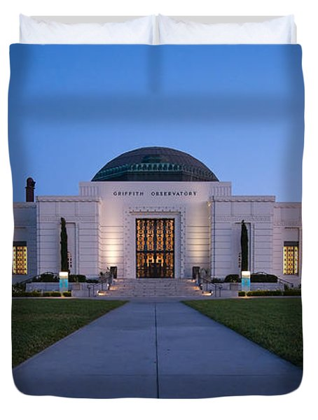 Griffith Observatory Duvet Cover by Adam Romanowicz