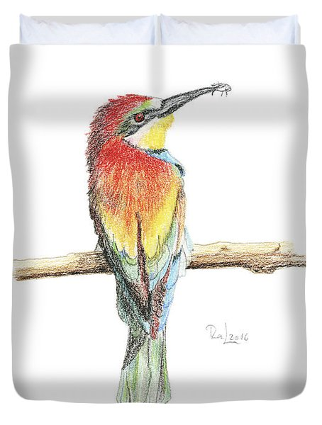 Gruccione - Bee Eater - Merops Apiaster Duvet Cover