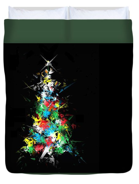 Happy Holidays Duvet Cover by Ludwig Keck