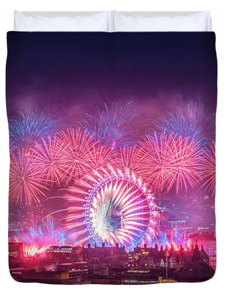 Happy New Year 2018 Duvet Cover