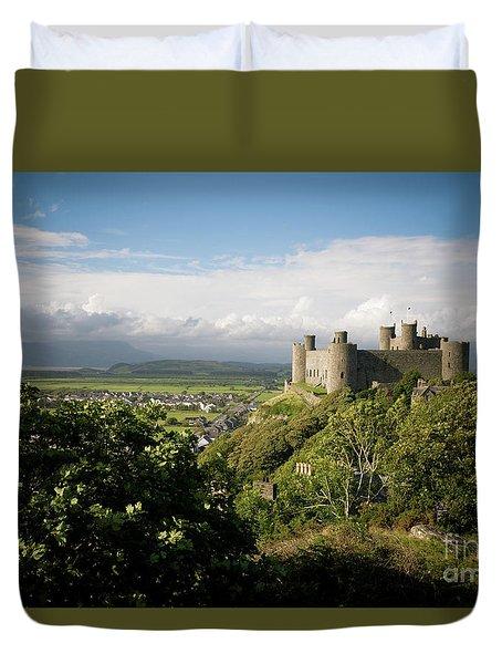 Harlech Castle, Snowdonia, Gwynedd, North Wales, Uk Duvet Cover