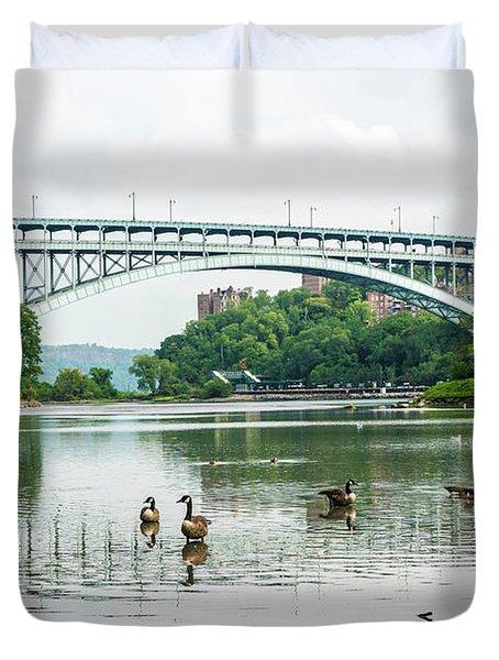 Henry Hudson Bridge Duvet Cover