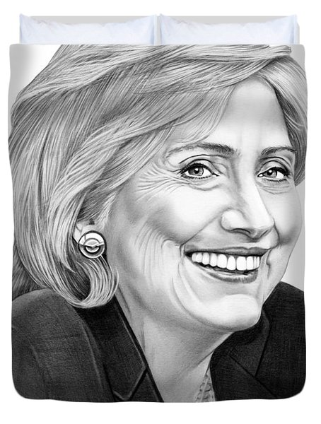 Hillary Clinton Duvet Cover by Murphy Elliott