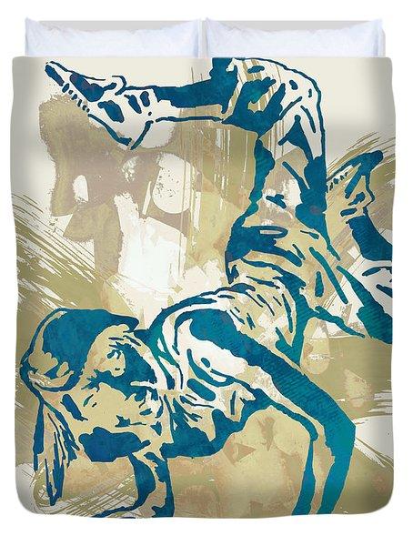 Hip Hop Street Dancing  Pop Art Poster   Duvet Cover