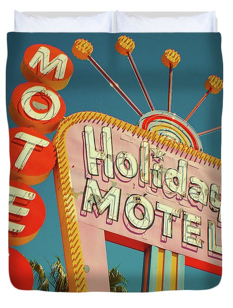 Holiday Motel, Las Vegas Duvet Cover