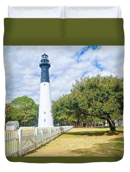 Hunting Island Lighthouse Duvet Cover