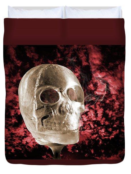 Ice Skull'pture Duvet Cover
