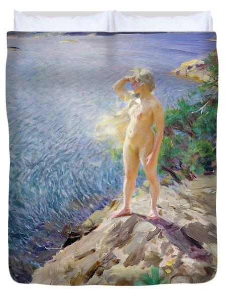 In The Skerries Duvet Cover