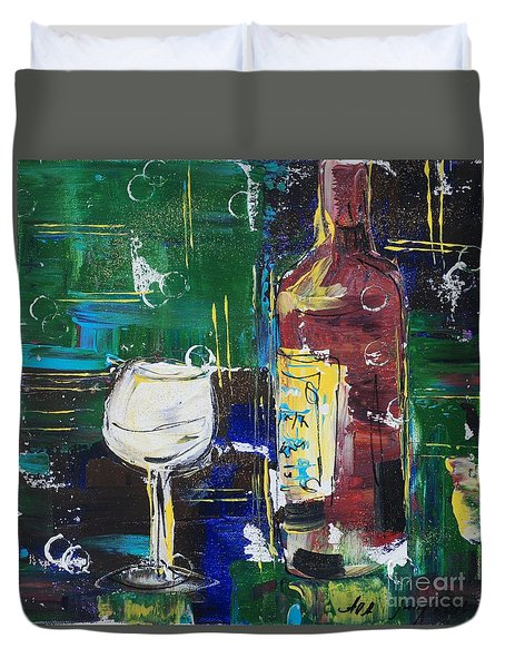 In Vino Veritas. Wine Collection 12 Duvet Cover