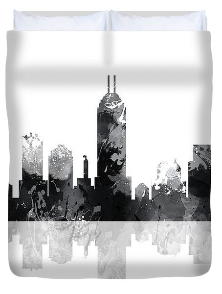 Indiana Indianapolis Skyline Duvet Cover