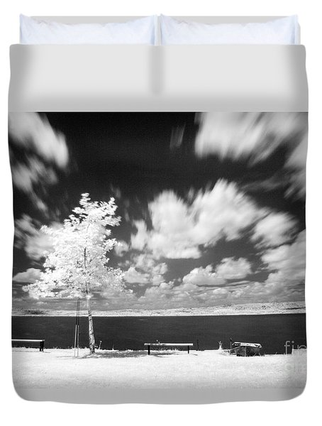 Duvet Cover featuring the photograph Infrared Landscape by Odon Czintos