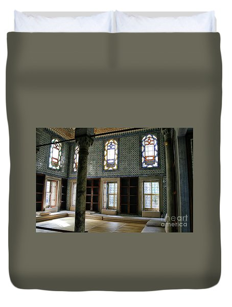 Duvet Cover featuring the photograph Inside The Harem Of The Topkapi Palace by Patricia Hofmeester