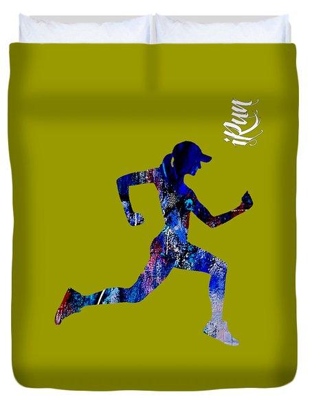 iRun Fitness Collection Duvet Cover
