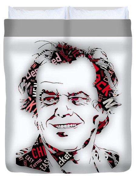 Jack Nicholson Movie Titles Duvet Cover