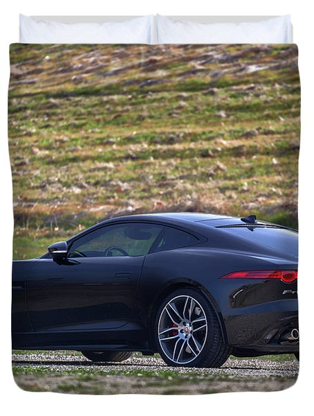 #jaguar #f-type #print Duvet Cover