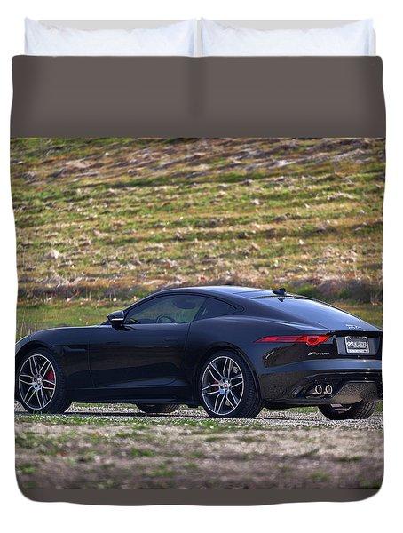 #jaguar #f-type #print Duvet Cover