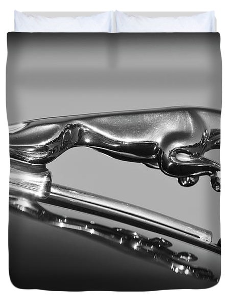 Jaguar Hood Ornament 2 Duvet Cover