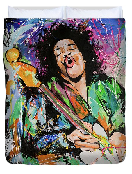 Jimi Hendrix Duvet Cover by Richard Day