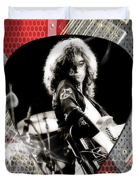 Jimmy Page Art Duvet Cover