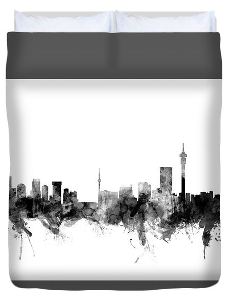 Johannesburg South Africa Skyline Duvet Cover