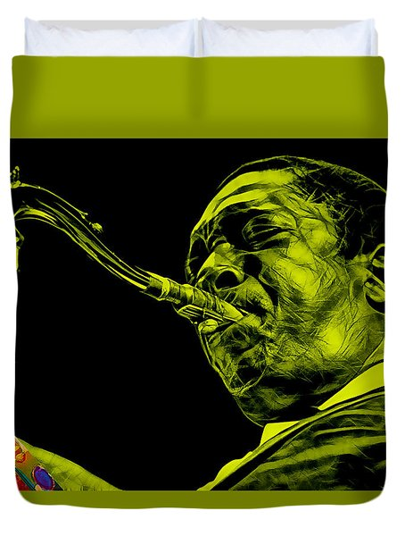 John Coltrane Collection Duvet Cover by Marvin Blaine