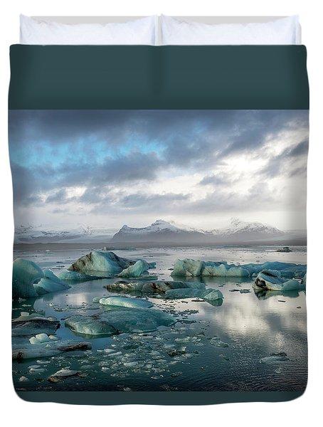 Jokulsarlon, The Glacier Lagoon, Iceland 3 Duvet Cover