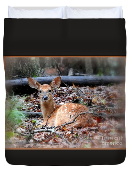 Just A Babe Duvet Cover by Brenda Bostic