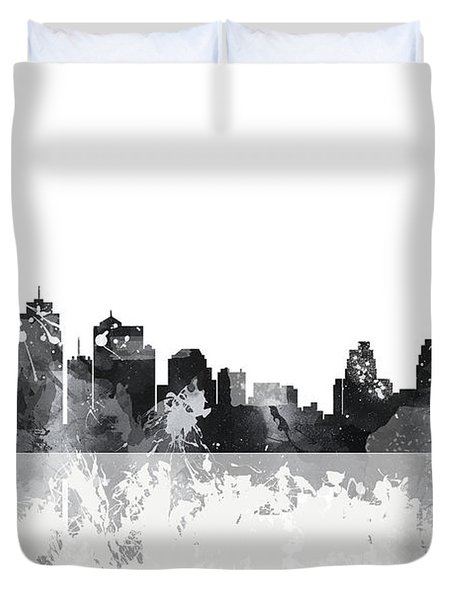 Kansas City Missouri Skyline Duvet Cover