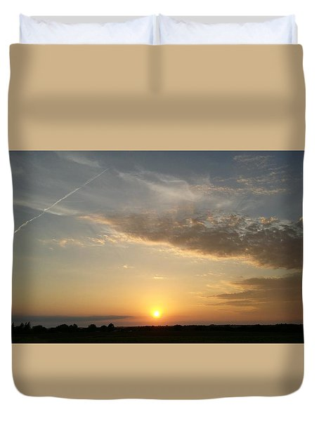 Kansas Sunset Duvet Cover by Dustin Soph