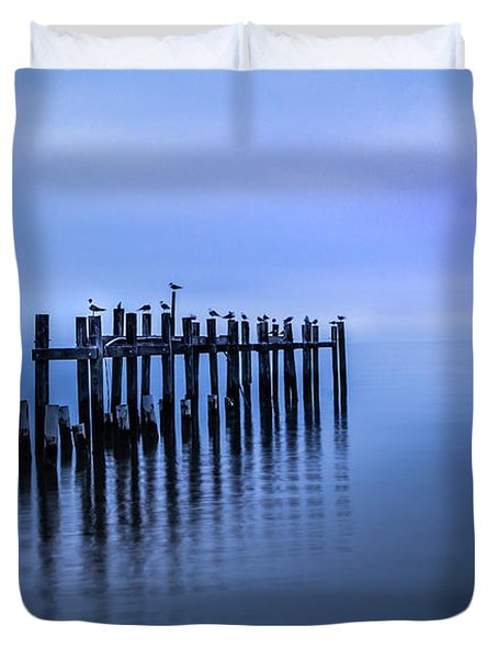 Colorful Overcast At Twilight Duvet Cover