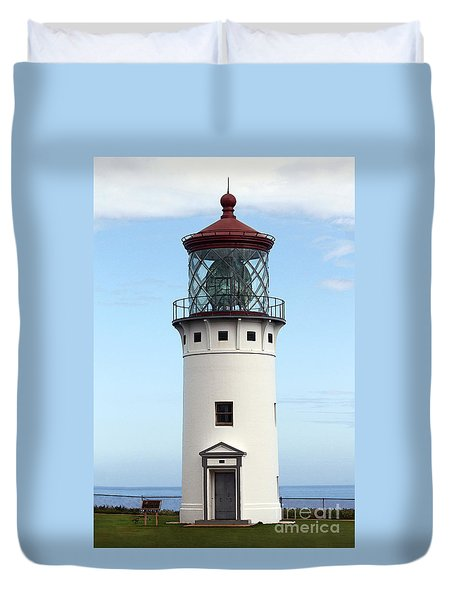 Kilauea Lighthouse On Kauai Duvet Cover