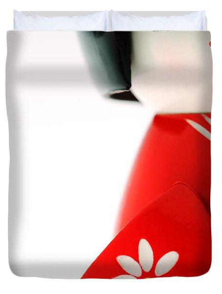 Kokeshi Doll Duvet Cover by Larry Dale Gordon - Printscapes