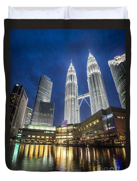 Kuala Lumpur Petronas Towers Duvet Cover