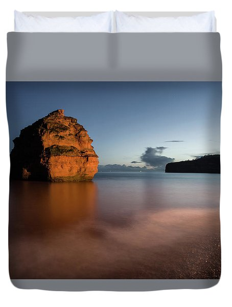 Ladram Bay In Devon Duvet Cover