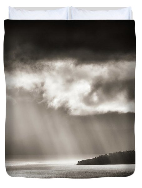 Lake Tahoe Storm Duvet Cover