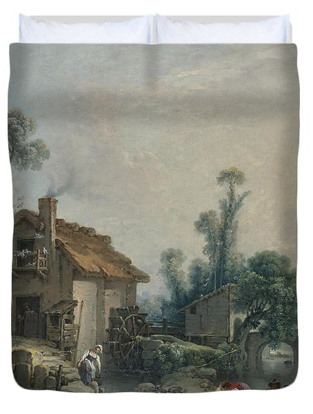 Landscape With A Watermill Duvet Cover