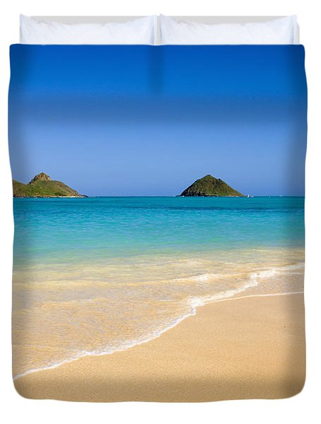 Lanikai, Mokulua Islands Duvet Cover
