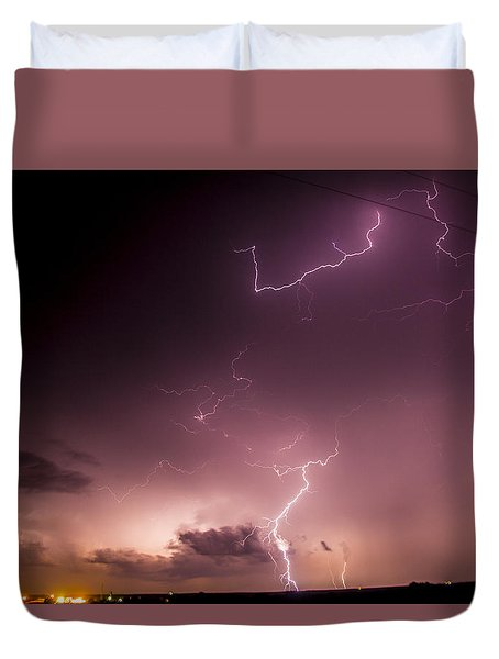 Late July Storm Chasing 057 Duvet Cover