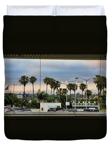 Lax Airport  Duvet Cover
