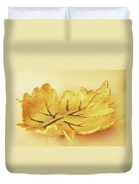 Leaf Plate2 Duvet Cover