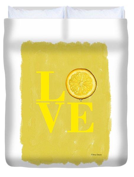 Lemon Duvet Cover by Mark Rogan