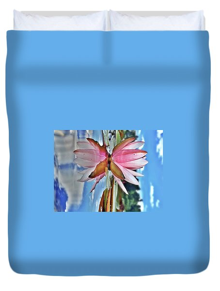 Lily Pad Reflection Duvet Cover