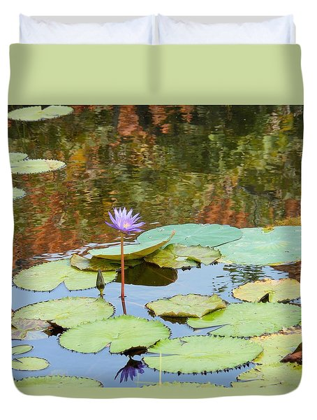 Lily Pond Duvet Cover by Kay Gilley