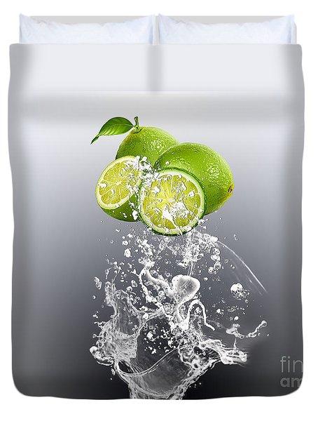 Lime Splash Duvet Cover