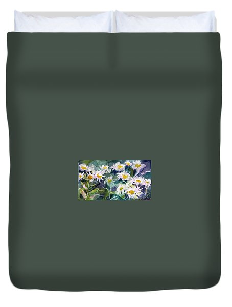 Little Asters Duvet Cover by Jan Bennicoff