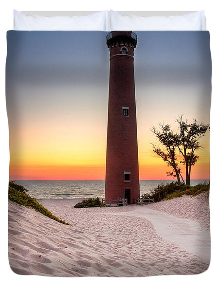 Little Sable Point Light Station Duvet Cover