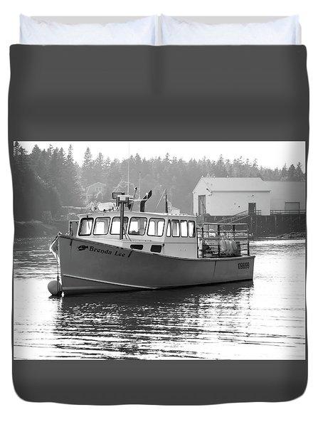 Lobster Boat Duvet Cover